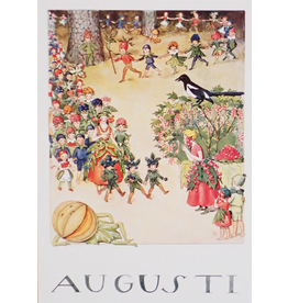 Hjelm Förlag Kaart Augusti (Augustus) van Elsa Beskow