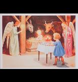 Kaart Kerst stal van Elsa Beskow