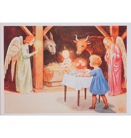 Hjelm Förlag Kaart Kerst stal van Elsa Beskow
