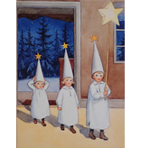 Kaart Kerst Lucia van Elsa Beskow