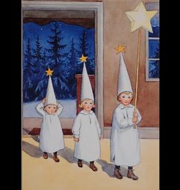 Hjelm Förlag Kaart Kerst Lucia van Elsa Beskow