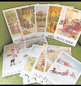 Hjelm Förlag Set van 12 kaarten Elsa Beskow