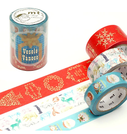 MT  MT washi tape Kerstset 6
