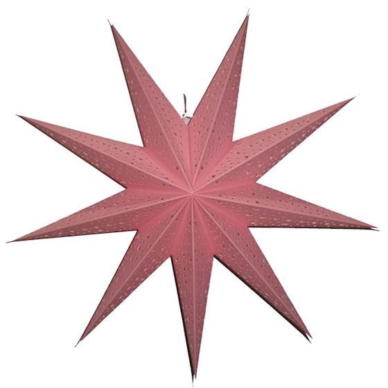 Kerstster Glitter light pink