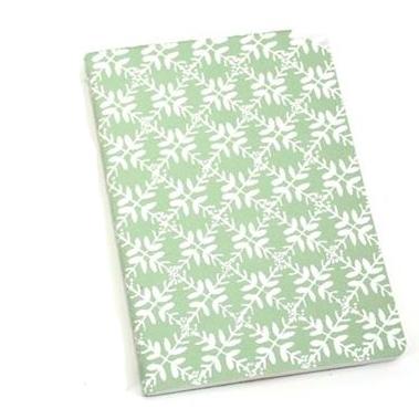 Notebook Leaf pastel olive