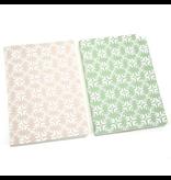 Notebook Leaf pastel pink
