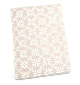 Notebook Leaf pastel pink