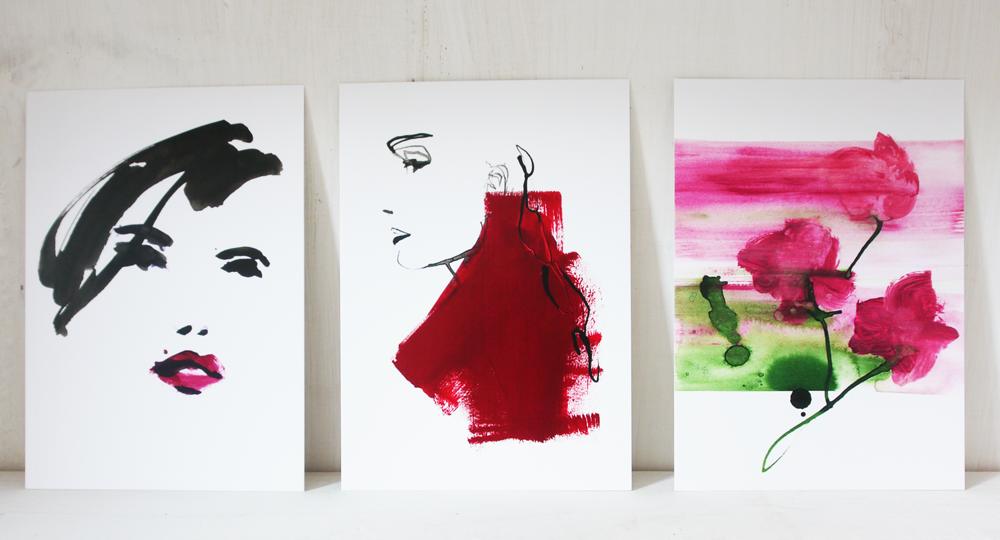 Kunstkaart Roses