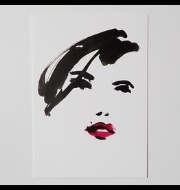 Tessa M. de Graaf Kunstkaart Pink Lips