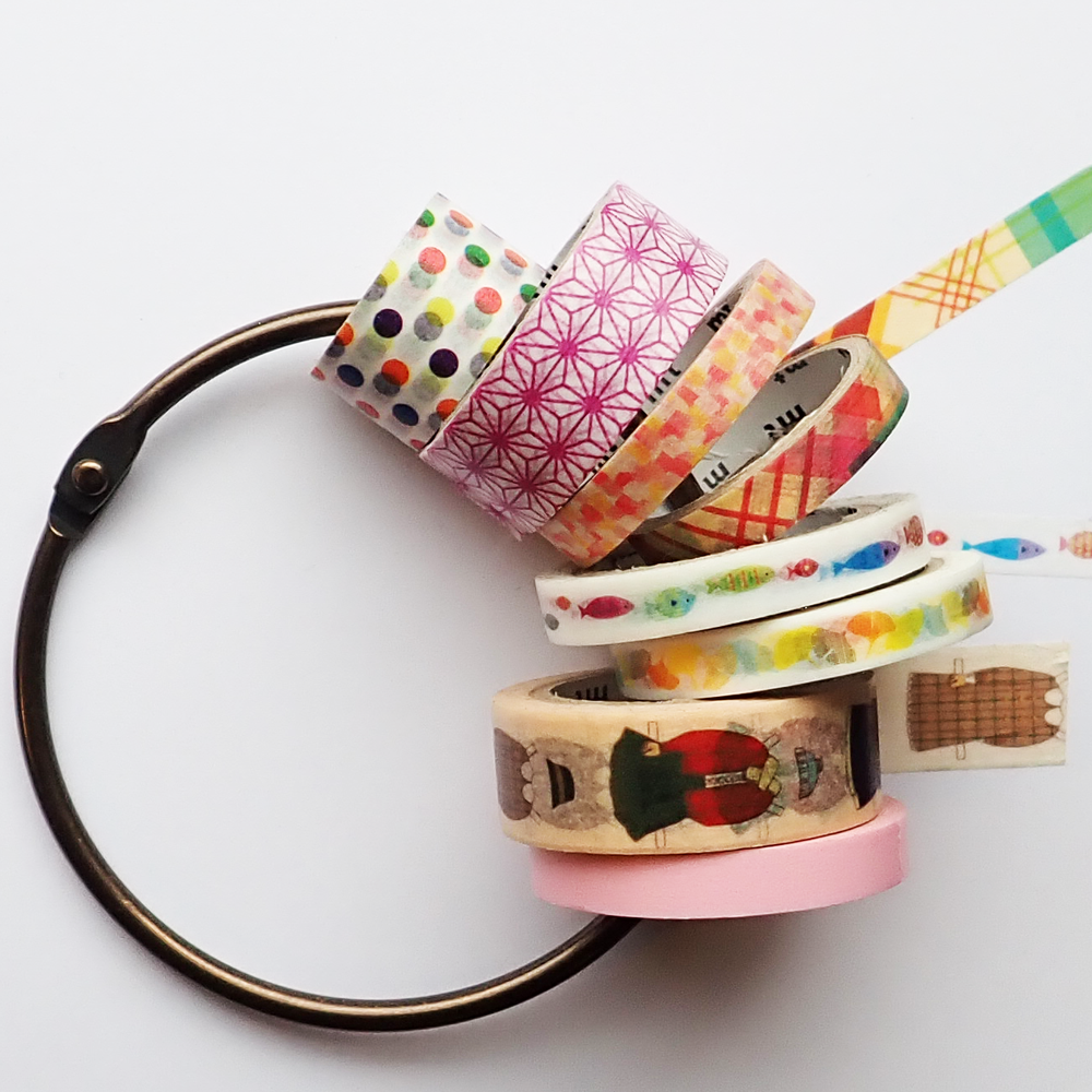 Washi tape ring koper