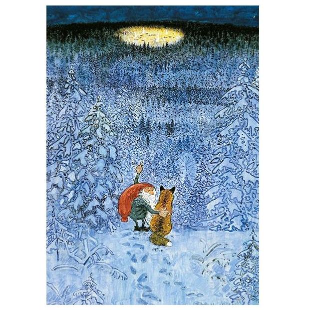 Kaart Eeuwig kerstdorp van Harald Wiberg