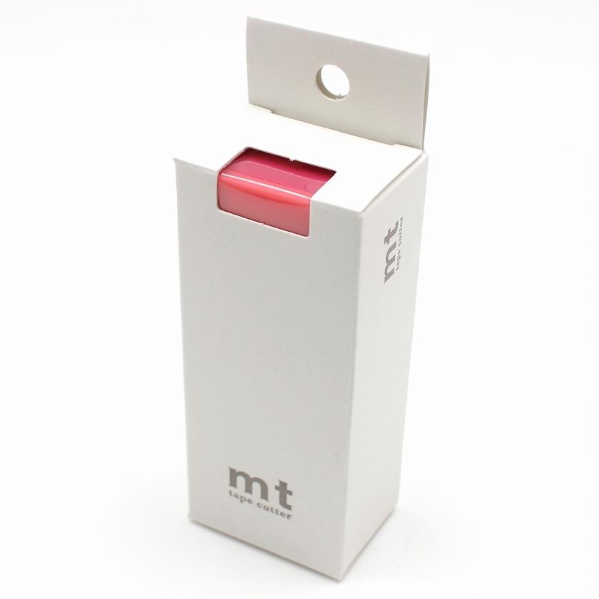 MT washi tape cutter 2tone coral x pink