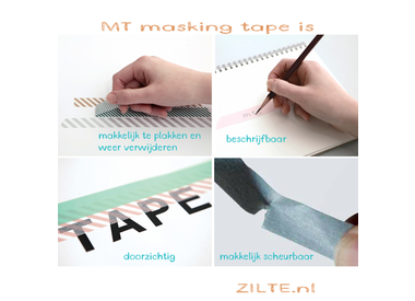 Wat kun je met MT washi tape?