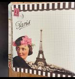 Geïllustreerd notebook Bonjour Paris