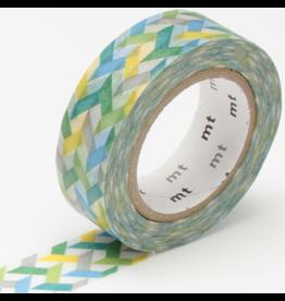 MT  MT washi tape slash green