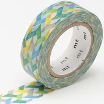 MT washi tape slash green