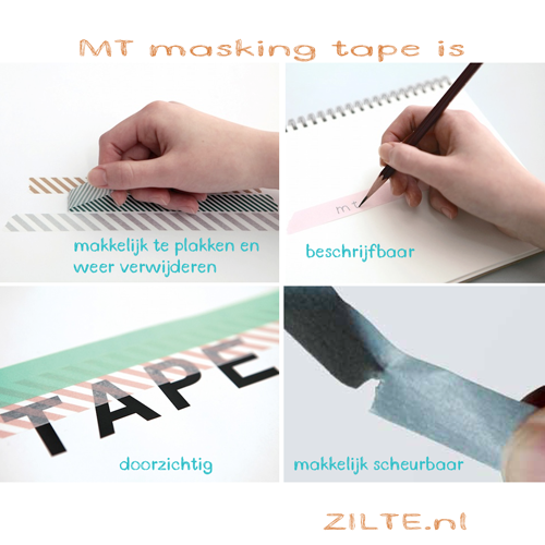 MT washi tape check light pink
