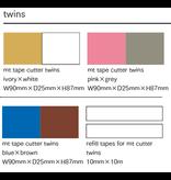 MT washi tape cutter Twins blue x brown