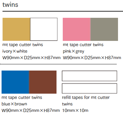 MT washi tape cutter Twins tape set
