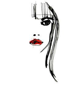 Tessa M. de Graaf Kunstkaart Red lips