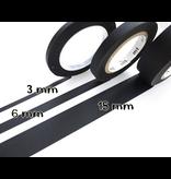 MT washi tape slim set matte black 3 mm