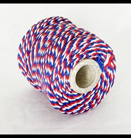 Zilte atelier Twine rood, wit & blauw