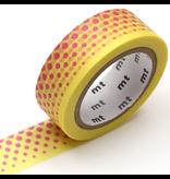 MT washi tape deco Pop dot yellow