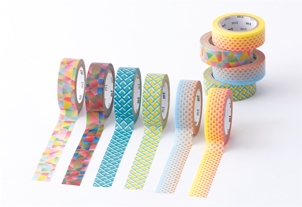 MT washi tape deco Polygon gradation vivid
