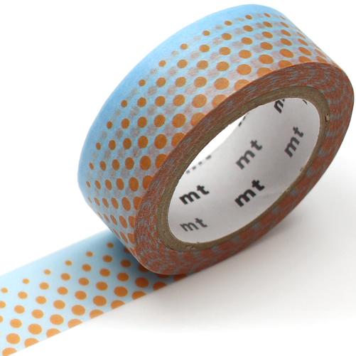 MT washi tape deco Pop dot blue
