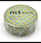 MT washi tape deco Mesh yellow