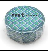 MT washi tape deco Mesh green