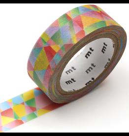 MT  MT washi tape deco Polygon gradation vivid