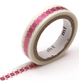 MT  MT washi tape fab metallic Floral line