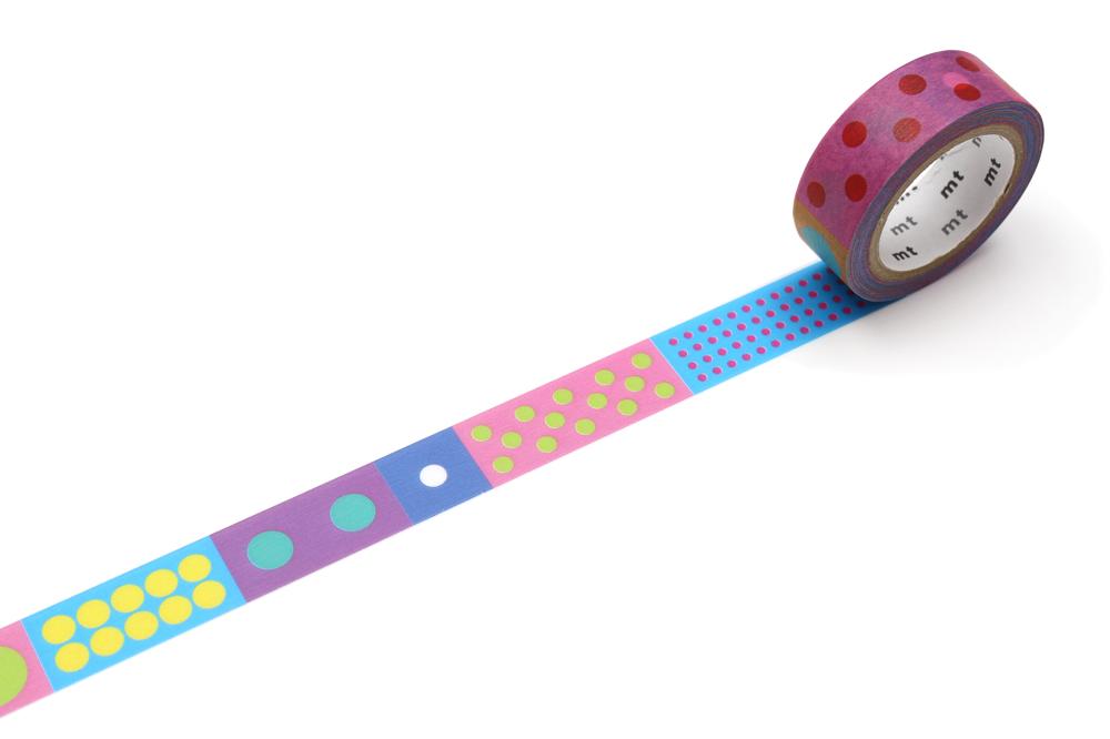 MT washi tape Kapitza Polka dot vivid