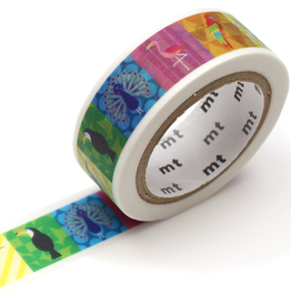 MT washi tape ex Colorful bird