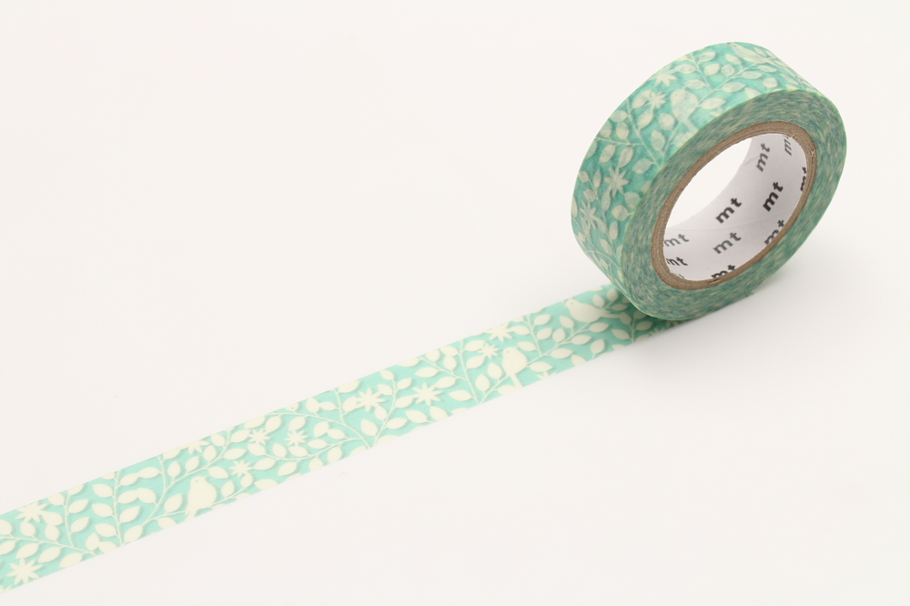 MT washi tape ex cutout leaf & bird
