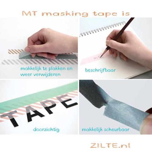 MT washi tape slim twist diagonal