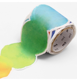 MT  MT washi tape Fab die-cut Blurred watercolor paint