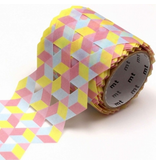 MT washi tape Fab die-cut Cube pattern