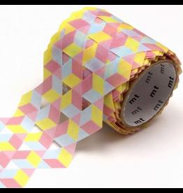 MT  MT washi tape Fab die-cut Cube pattern