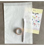 Pergamijn set met 25 zakjes