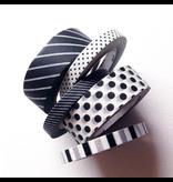 MT washi tape slim set matte black 6 mm