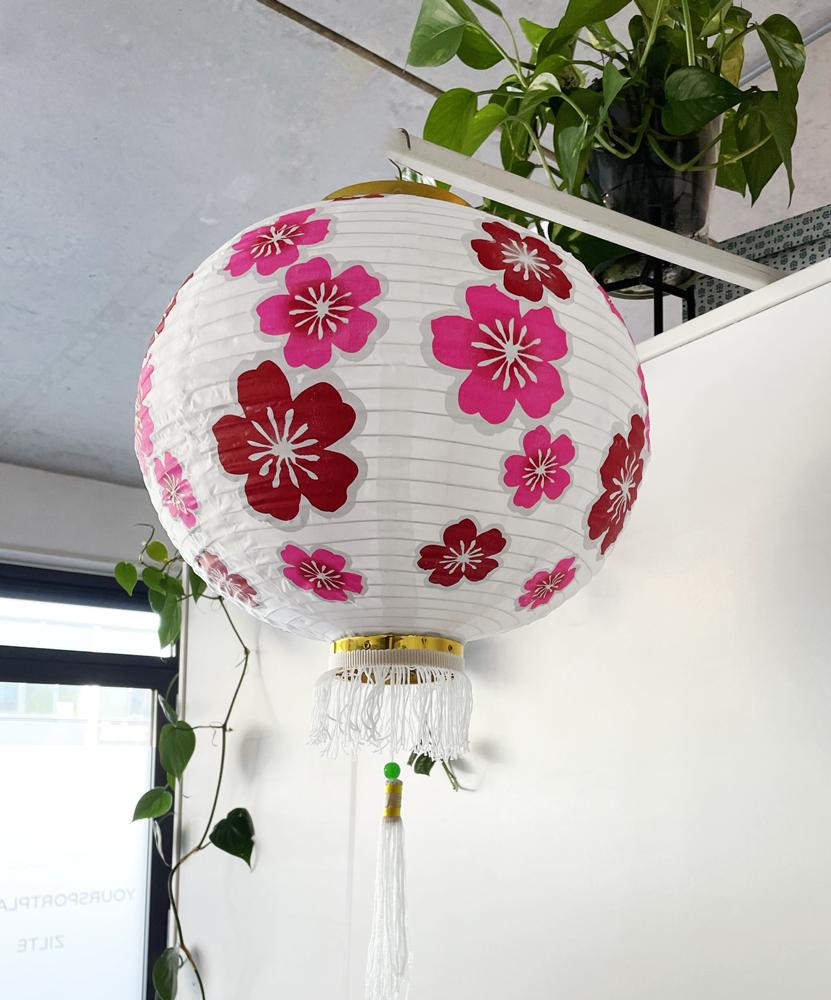 Lampion van stof Lucky flowers