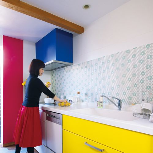 MT casa washi fleece William Morris Bachelors button blue