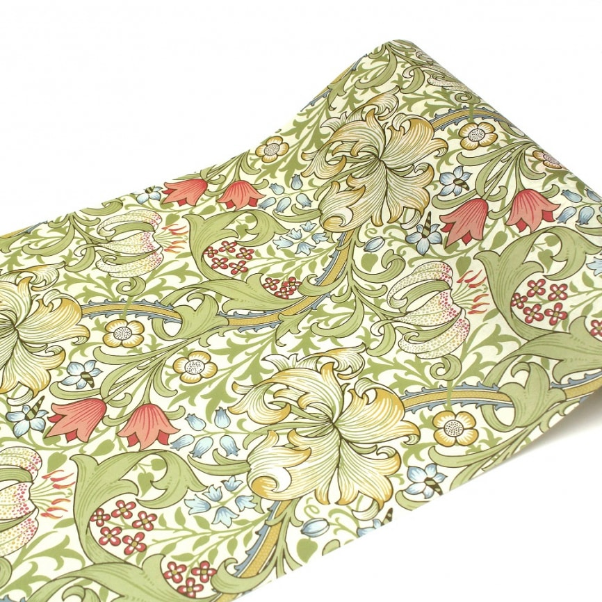 MT casa washi fleece William Morris Golden lily