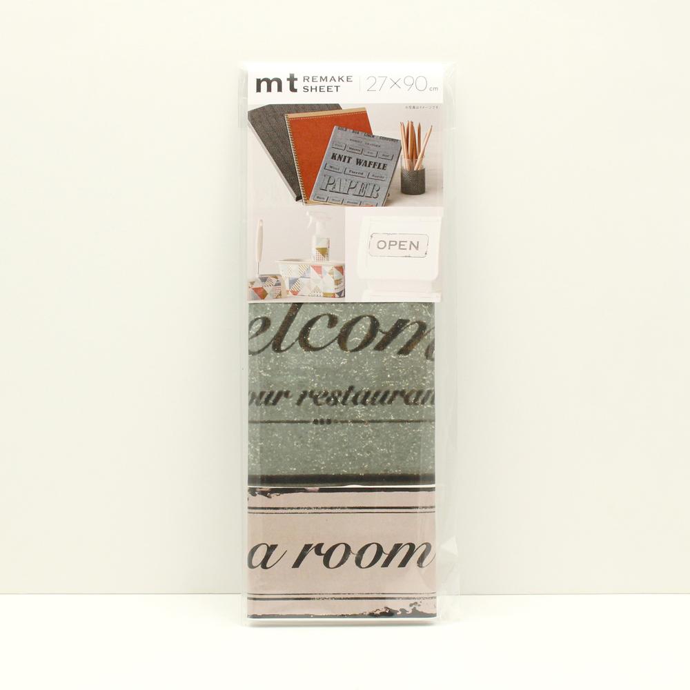 MT casa washi remake sheet Vintage sign plate