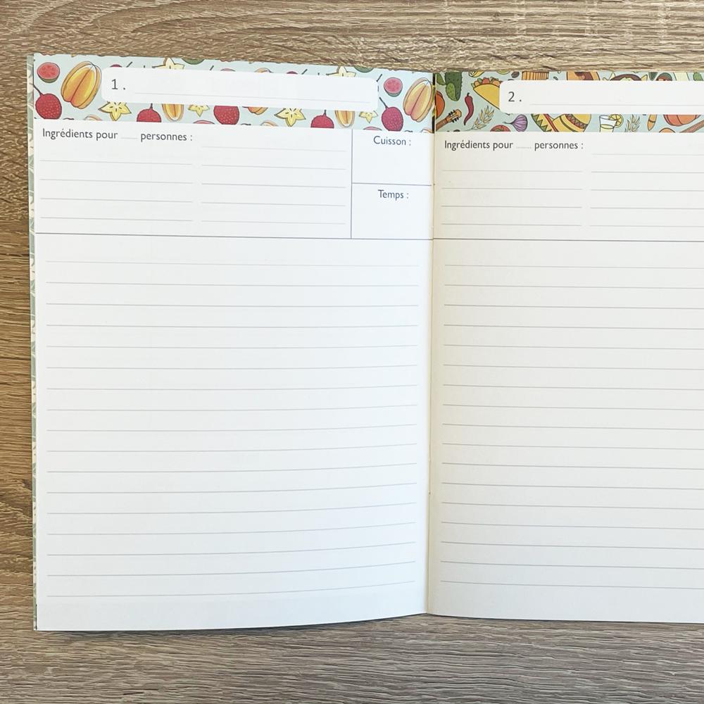 Geïllustreerd notebook Mes recettes