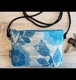 Etui-tas Huisteil Flowers in blue