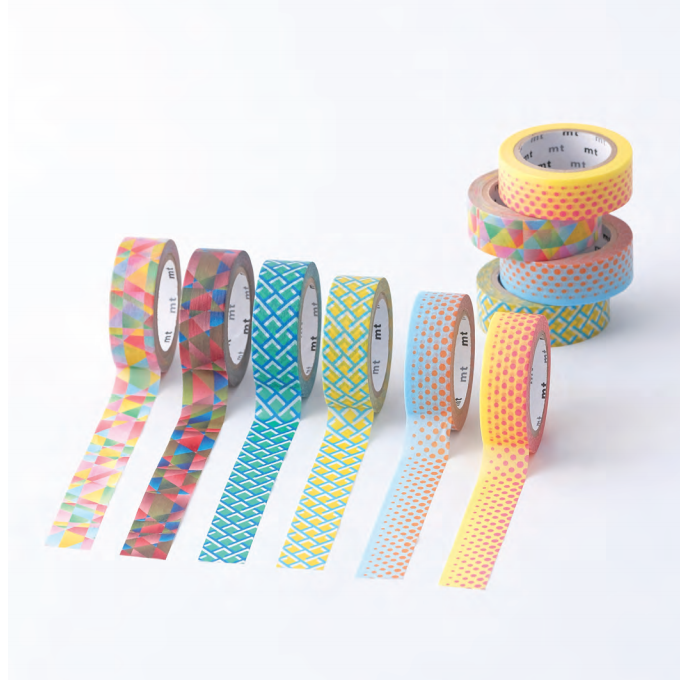 MT washi tape border blue