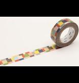 MT washi tape mosaic greyish